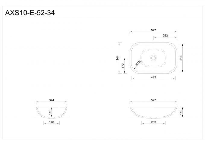 Dimenzije: kopalniški umivalnik Hasenkopf AXS-10