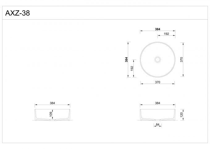 Dimenzije: kopalniški umivalnik Hasenkopf AXZ-38